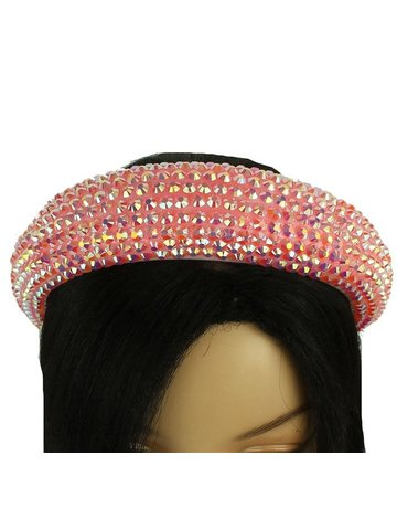 Hi Tide Crystal Headband - Light Pink