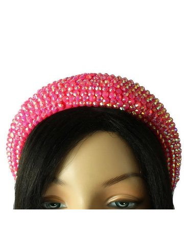 Hi Tide Crystal Headband - Dark Pink