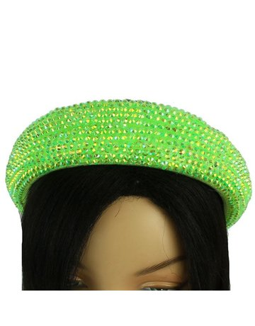Hi Tide Crystal Headband - Lime