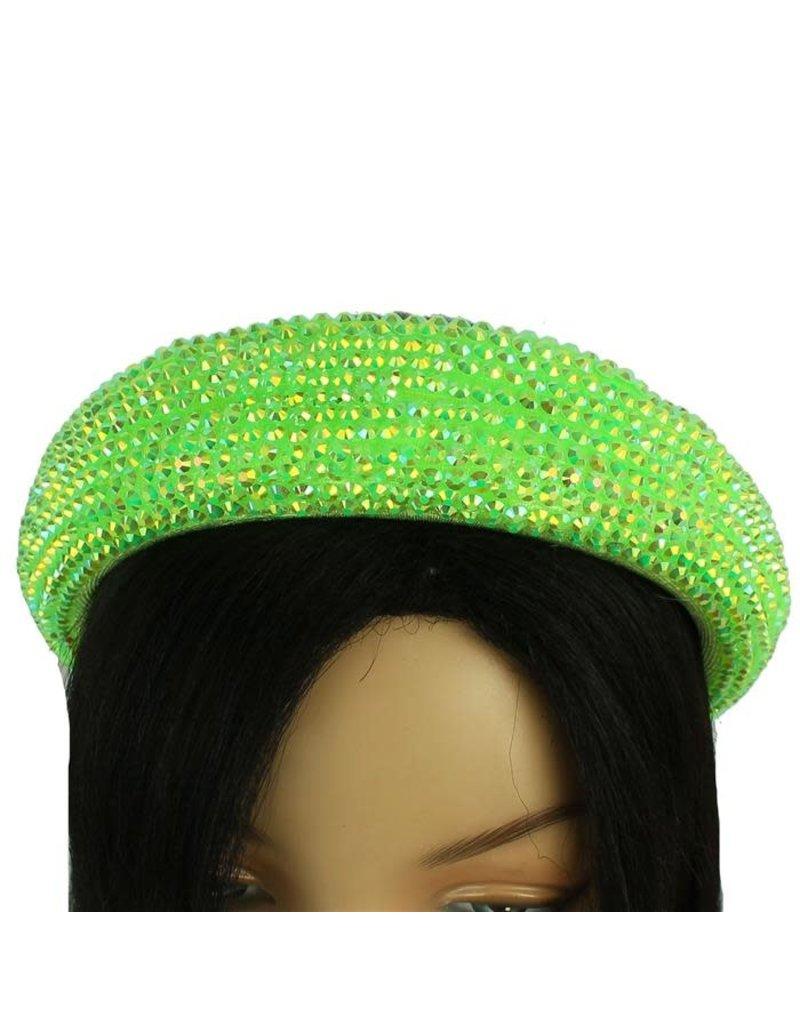 Hi Tide Crystal Headband - Lime