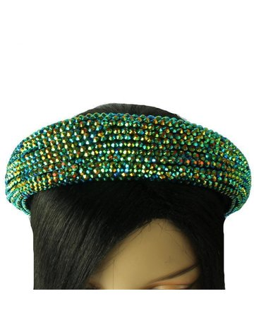 Hi Tide Crystal Headband - Emerald