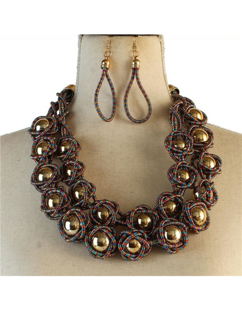 Never Blending In Necklace Set - Multi