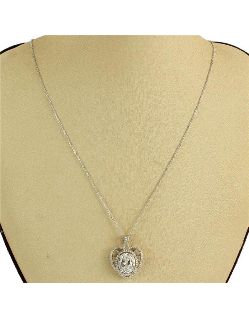 Heartache Cubic Zirconia Necklace