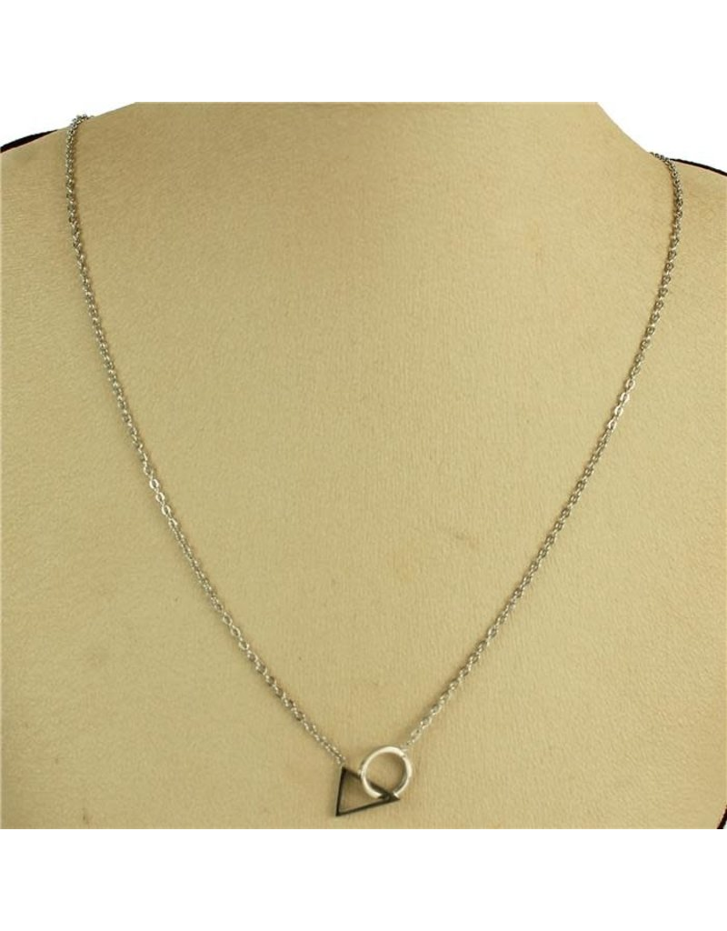 Tri Deal Necklace - Silver