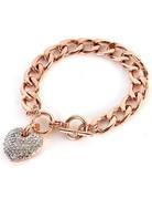 Heart Throb Bracelet - Rose Gold