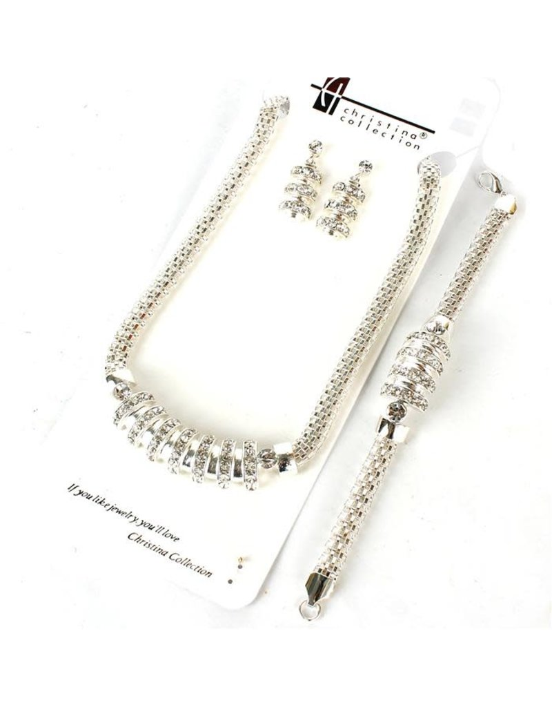 All Together 3 Pc Necklace Set - Silver
