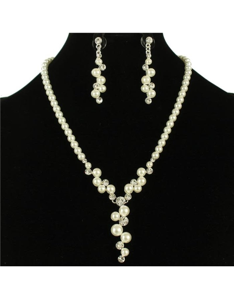 Christening Day Pearl Necklace Set - White