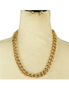 Chain Gang Necklace Set - Gold