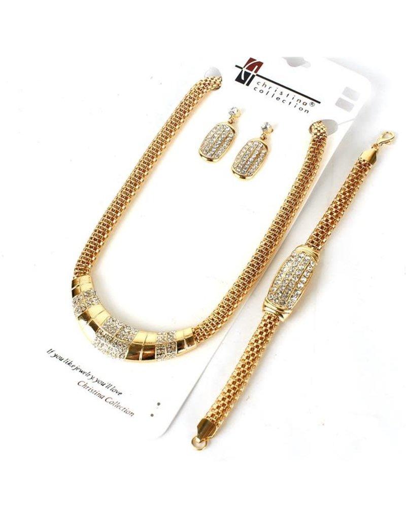 Together Works 3 Pc Necklace Set - Gold