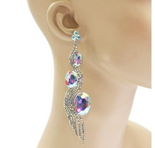 Mystical Beauty Earrings - Silver Iridescent