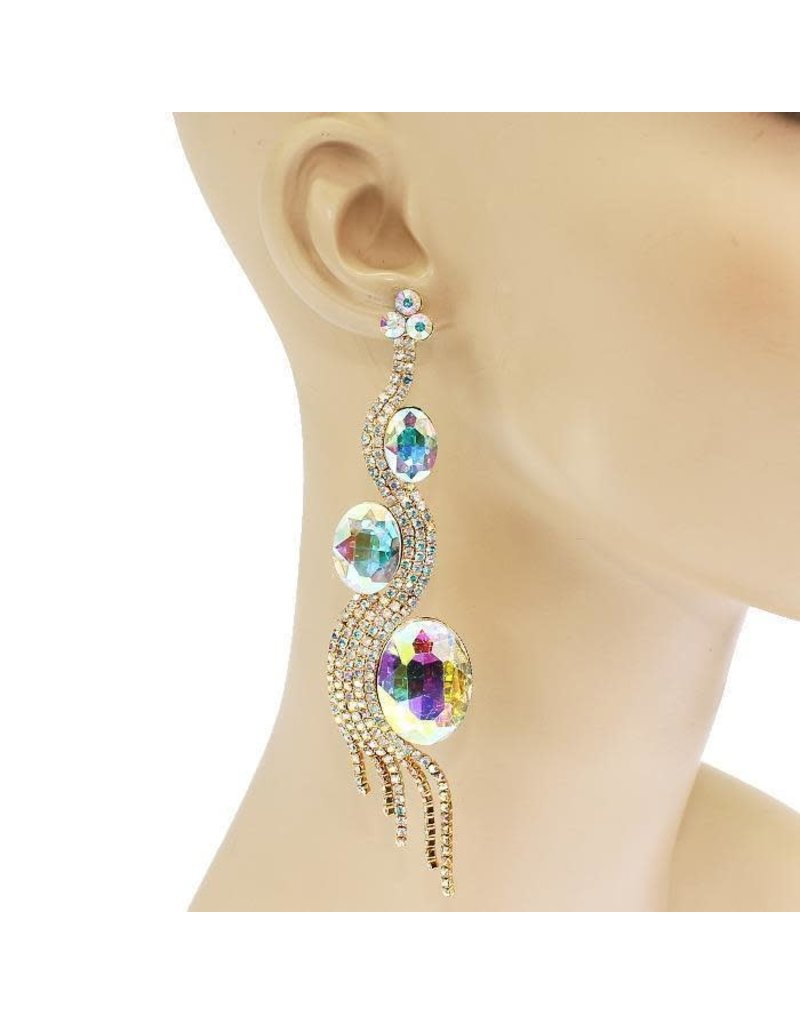 Mystical Beauty Earrings - Gold Iridescent