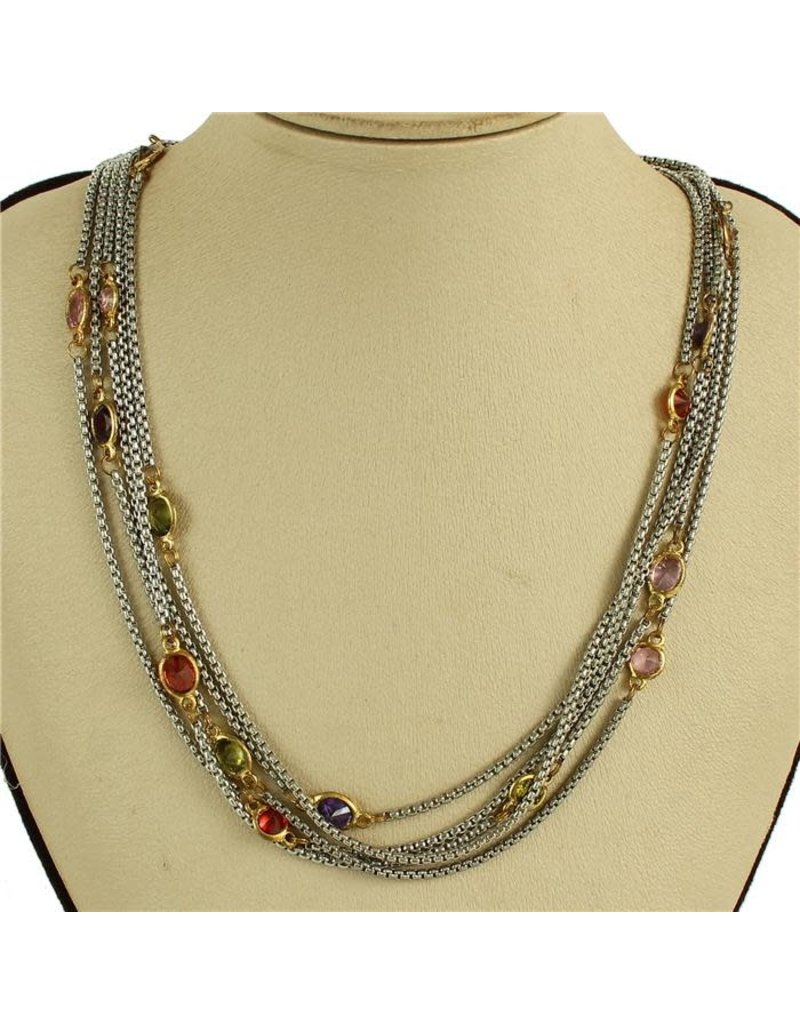 A Step Above Necklace - Multi