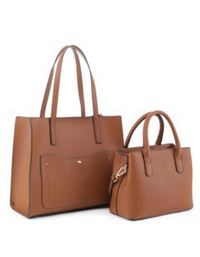 The Right Size Handbag Set - Brown
