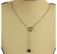 Hearts Intertwined Necklace - Silver