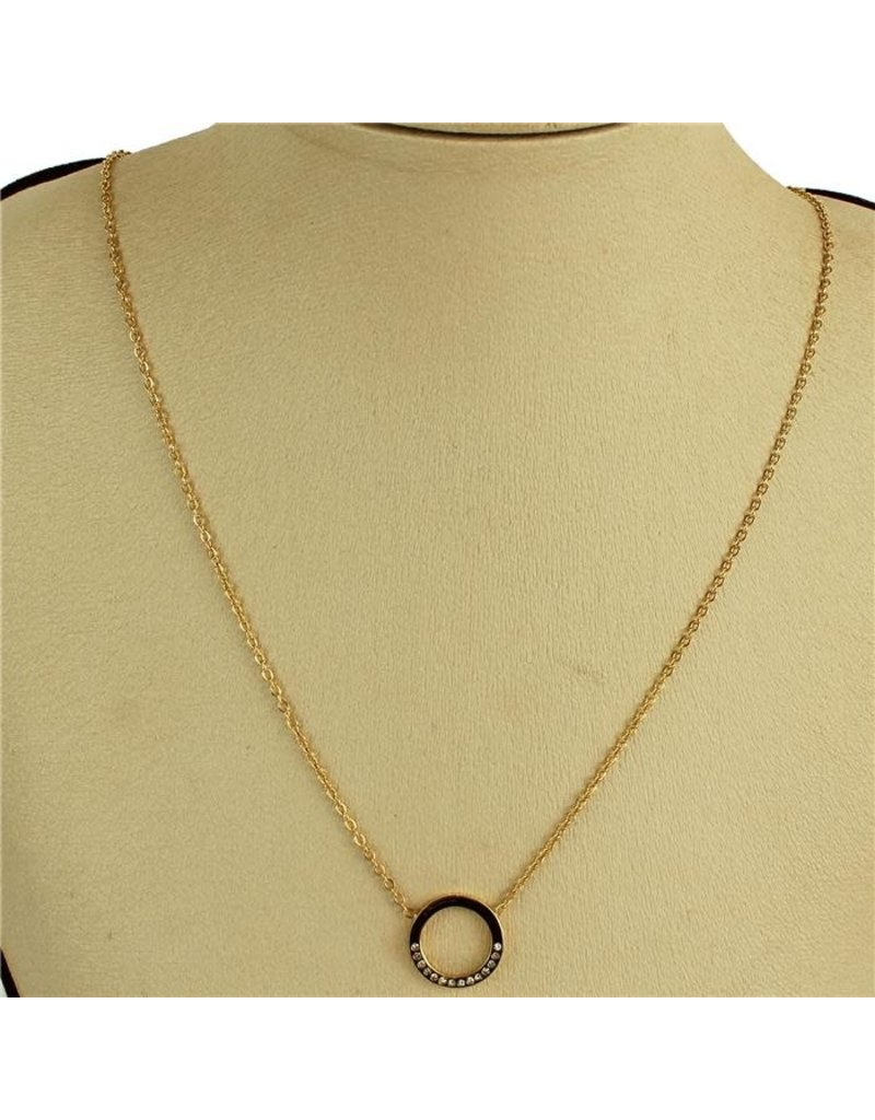 Over & Out Necklace - Gold