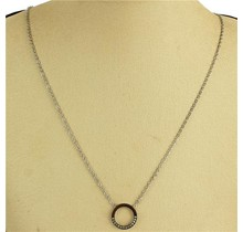Over & Out Necklace - Silver