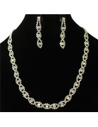 Bridal Assist Necklace Set - Silver Iridescent