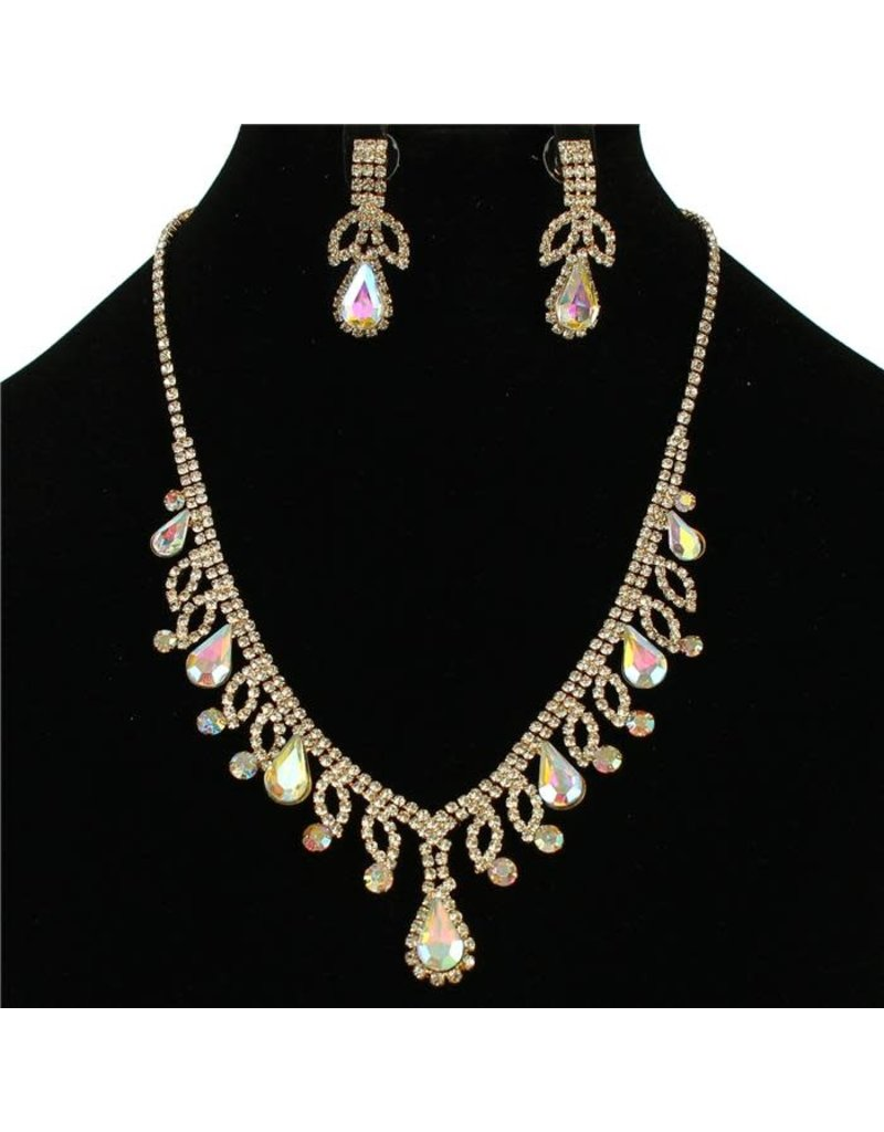 First Lady Necklace Set - Gold Iridescent
