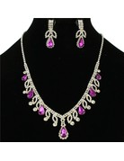 First Lady Necklace Set - Purple
