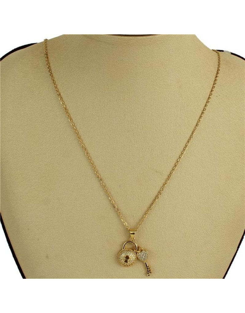 Stock Lock Necklace - Gold