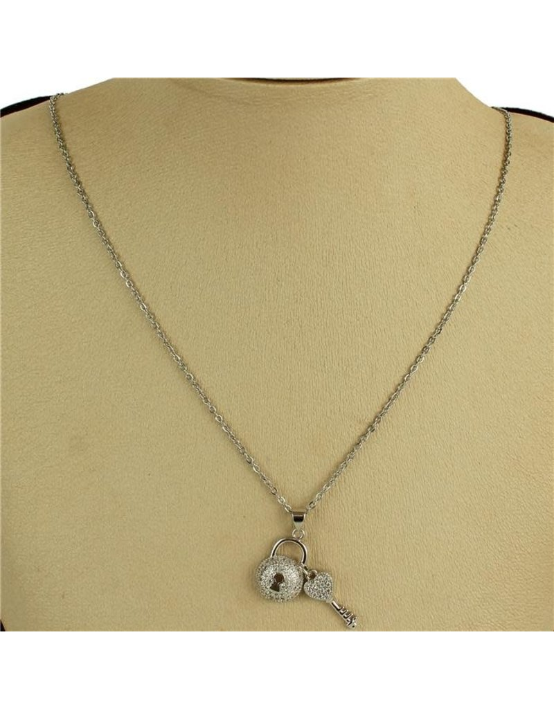 Stock Lock Necklace - Silver