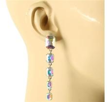 Cinco Crystal Drop Earring - Gold Iridescent