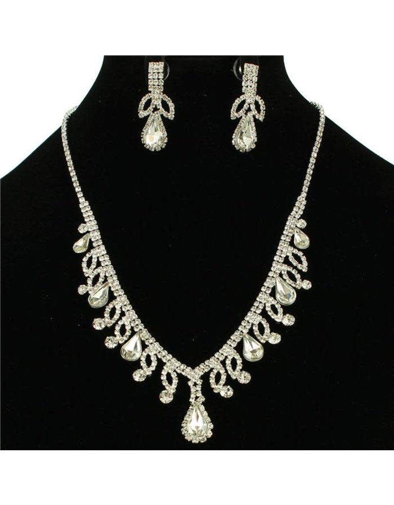 First Lady Necklace Set - Silver