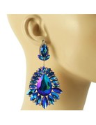 Beauty Surrounds Earrings - Royal Blue