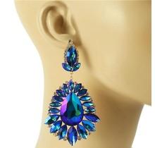 Beauty Surrounds Earrings - Royal Blue
