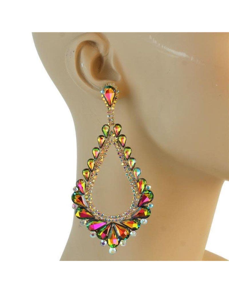 Royal Tiers Earrings - Multi