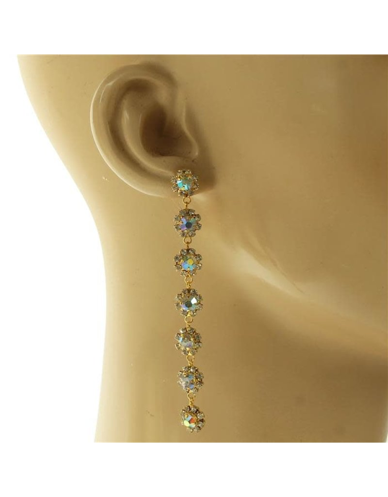 Guests Arriving Drop Earrings - Gold Iridescent