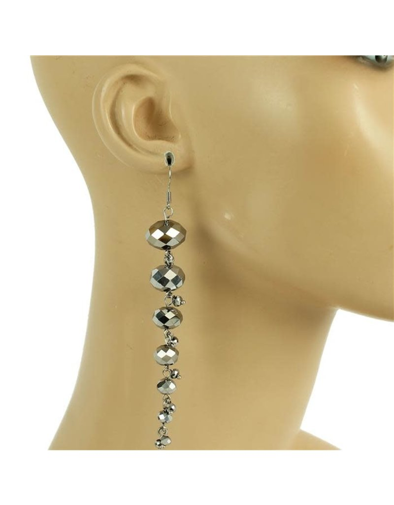 All Beaded Down Earring - Silver