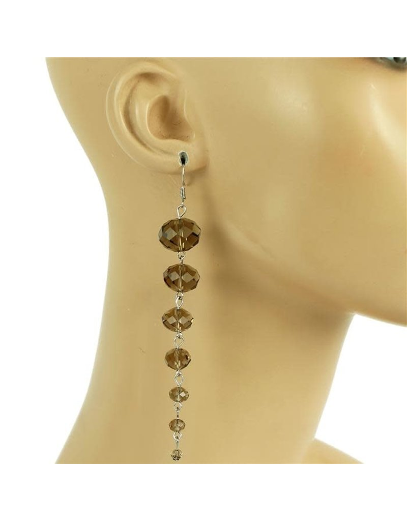 All Beaded Down  Earring - Pewter