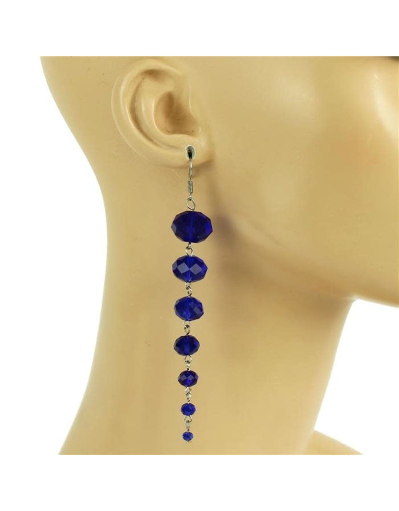 All Beaded Down Earring - Royal Blue