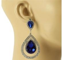 Stunner Girl Earrings - Royal Blue