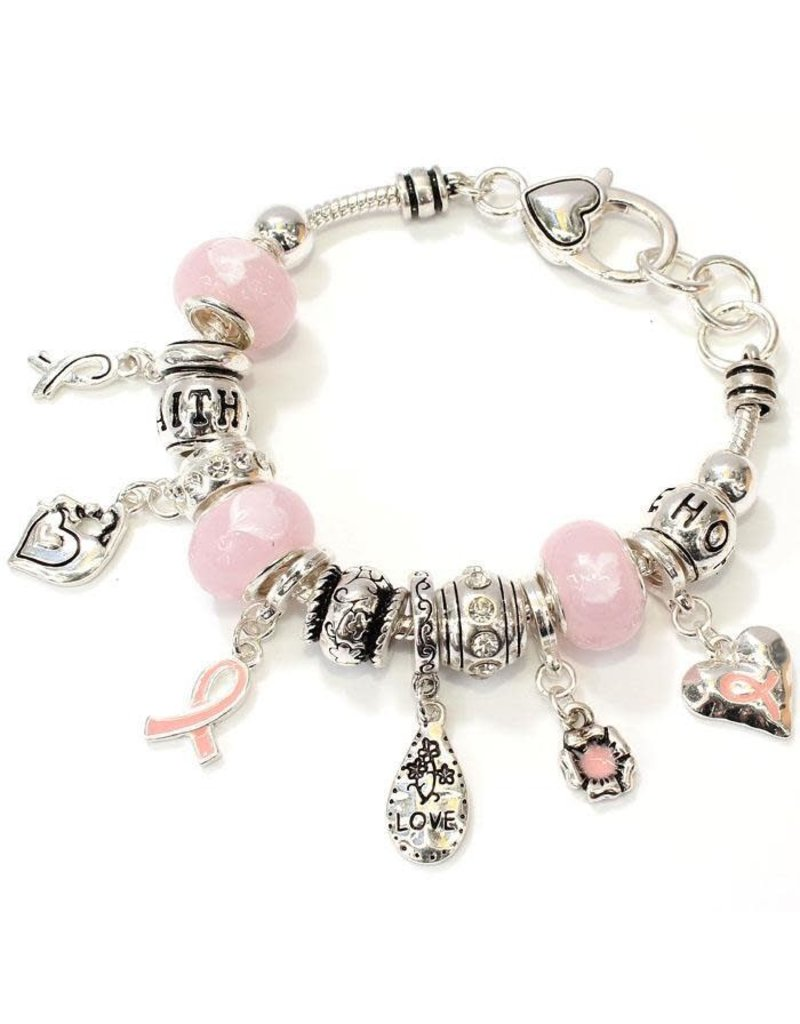 For the Cure Bracelet - Silver