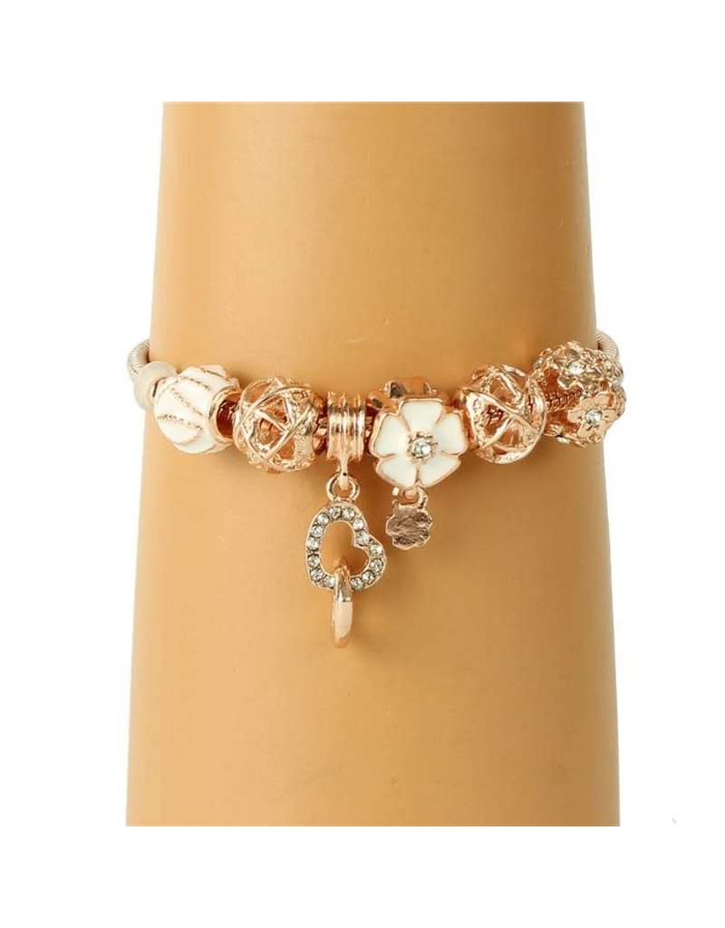 Hanging Heart Charm Bracelet