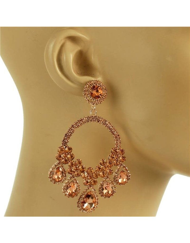 Love Load Earrings - Rose Gold