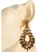 At The Gala Clip On Earrings - Topaz