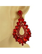 At The Gala Clip On Earrings - Red