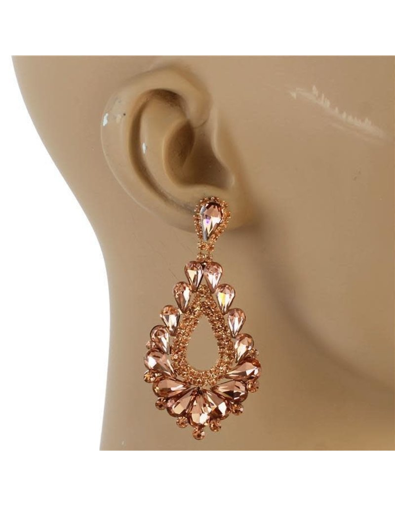 At The Gala Earrings - Rose Gold