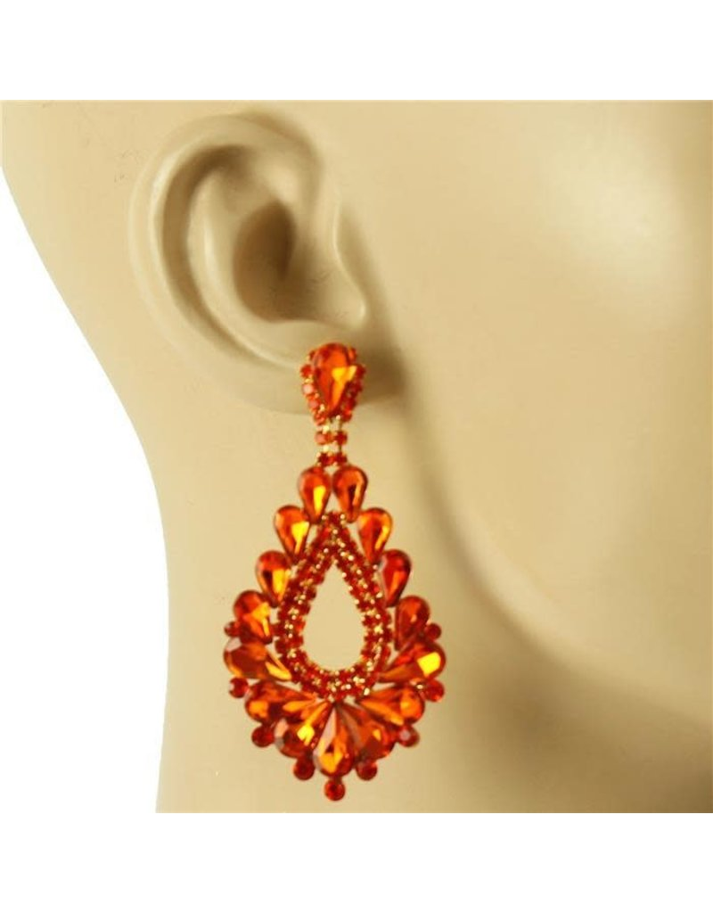 At The Gala Earrings - Orange