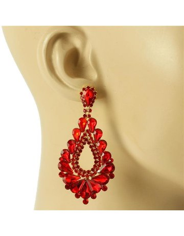 At The Gala Earrings - Red