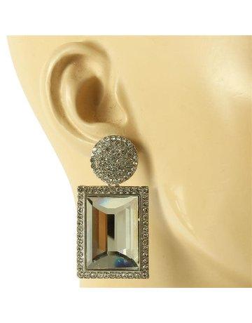 Mirror Mirror Earrings - Silver
