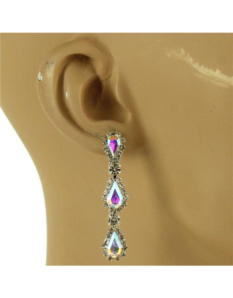 Drop By Drop Earrings - Silver Iridescent