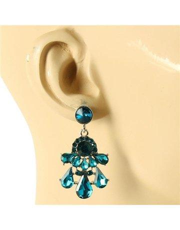 Drippin In Luxury Earrings - Teal