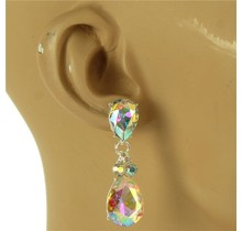 Late Nights Earrings - Silver Iridescent