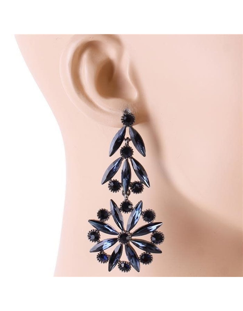 In Your Dreams Earrings - Navy