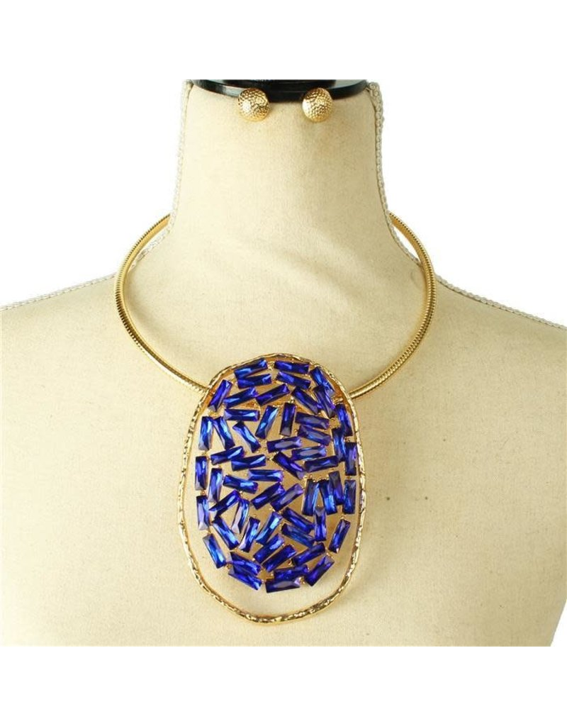 Lost In The Galaxy Necklace Set - Royal Blue