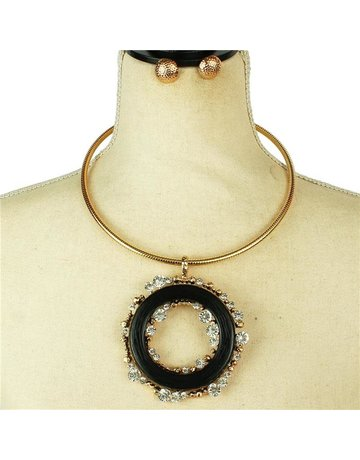 Worth The Wait Necklace Set - Black